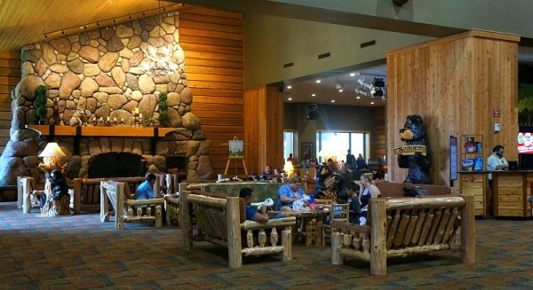Lobby at Great Wolf Lodge in California