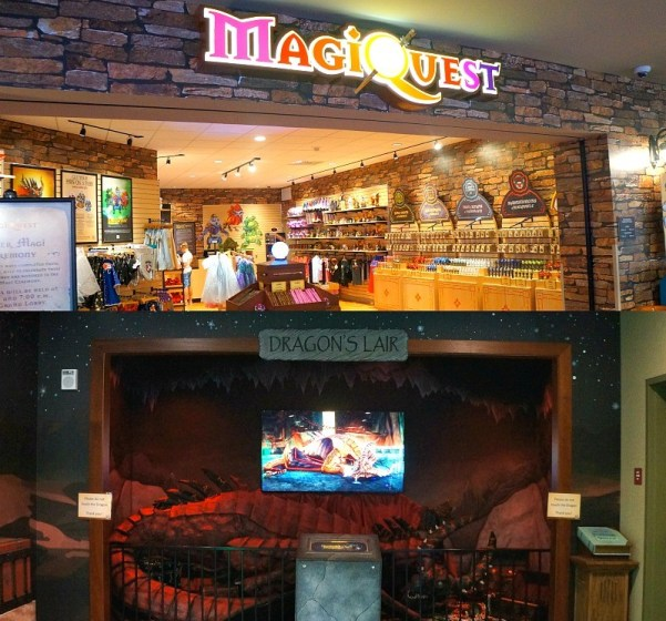 MagiQuest game attractions at Great Wolf Lodge in California