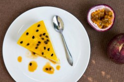 This fresh passionfruit cheesecake recipe is homemade and so delicious!