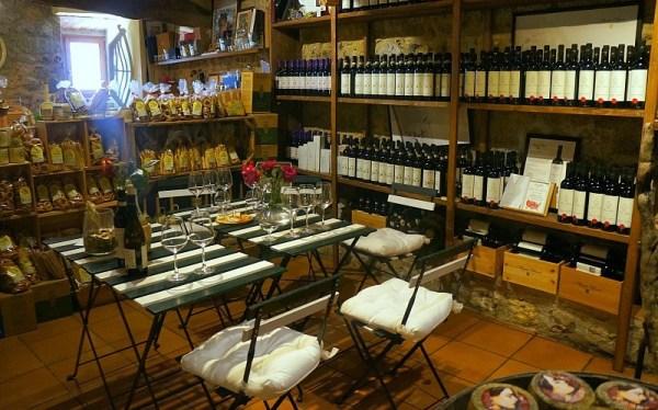 Family winery in Monteriggioni village, Tuscany, Italy
