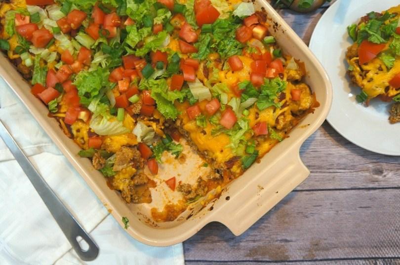 Ground turkey casserole recipes - easy turkey taco bake recipe