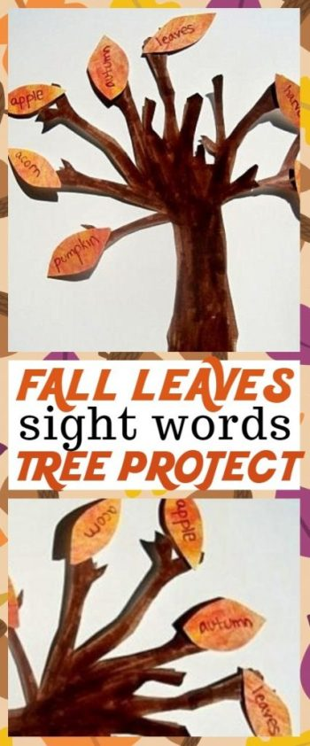 Educational Fall Crafts for Kids - We Love This Fall Leaves Tree Sight Words Craft | sight words activities | fall leaves tree | sight words for first grade | sight word practice | fall sight word activities | fall tree craft