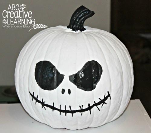 Jack Skellington Pumpkin - pumpkin painting ideas by Simply Today Life