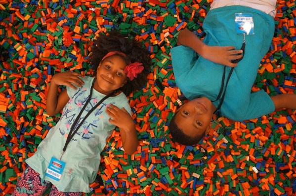 Kids in LEGO bricks at LEGOLAND California Hotel