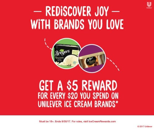 Unilever Breyers Ice Cream Rewards