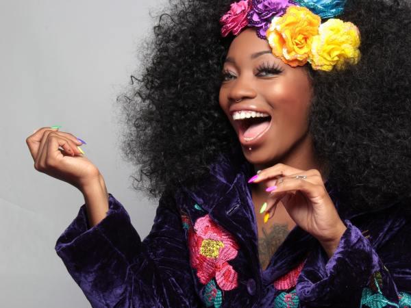 beautiful black woman happy smile