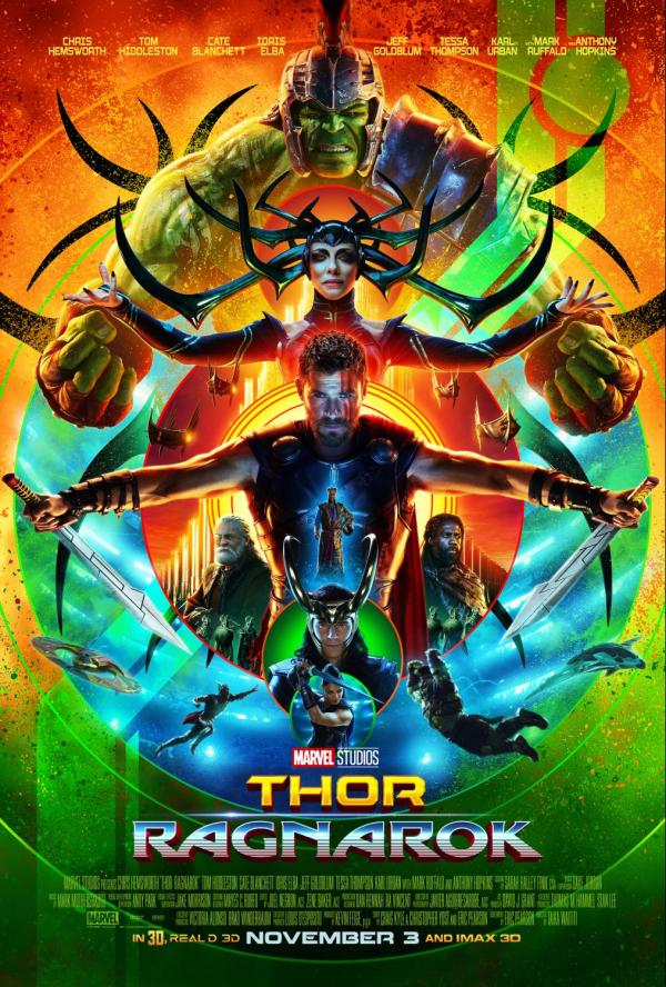 Is Thor ok for kids to see - Thor Ragnarok poster, in theaters November 3, 2017