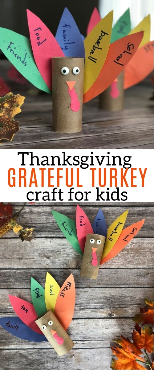Share Your Gratitude With This Thanksgiving Turkey Toilet Paper Roll Craft! Check out this tutorial to help your kids make their own thankful turkey craft