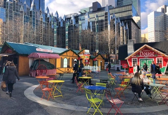 Christmas Market in Market Square Downtown Pittsburgh PA