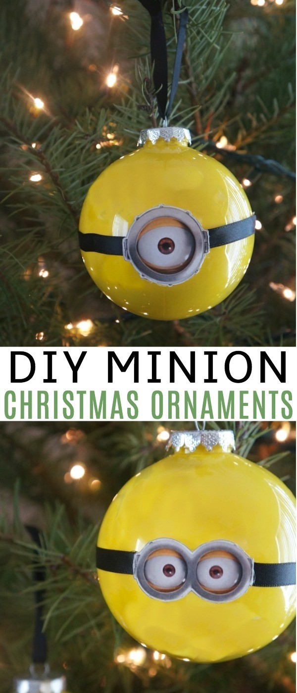 DIY Minion Christmas Ornaments - Learn how to make minion ornaments for some Holiday Fun For Despicable Me 3 DVD Release