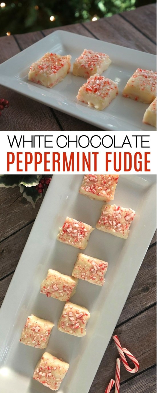 Make The Holidays Sweet With This Easy White Chocolate Peppermint Fudge Recipe