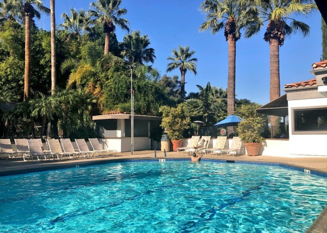 The main lap pool at Glen Ivy Hot Springs