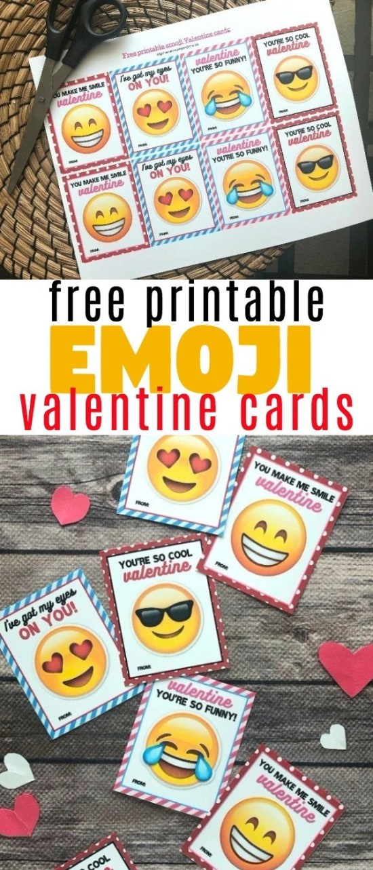 These Printable Emoji Valentine Cards Are So Much Fun And They're FREE | emoji valentineX emoji valentine's day cards | free valentine cards | online valentine cards | honeyandlime.co