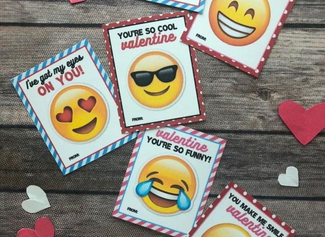 emoji Valentines day cards