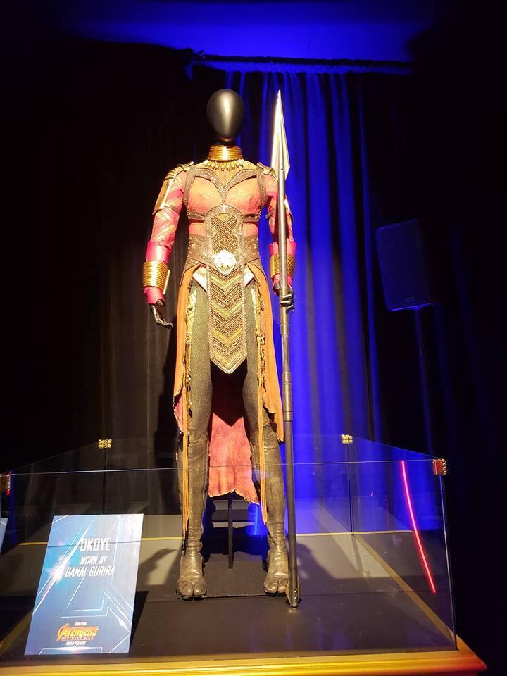 Avengers Infinity War movie premiere Dora Milaje dispaly