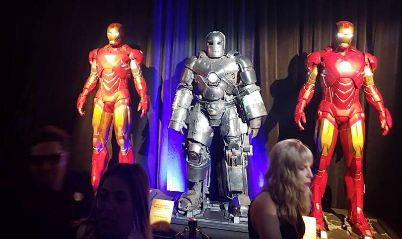Avengers Infinity War movie premiere Iron Man display