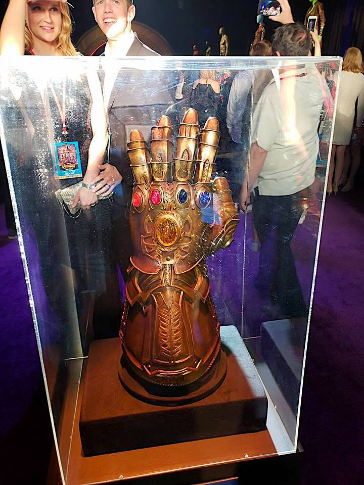 Thanos gauntlet at the Avengers Infinity War movie premiere