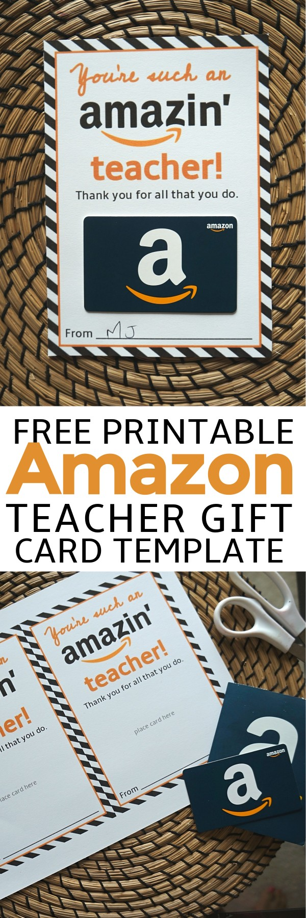 Free Amazon Teacher Gift Card Printable Template | free printable teacher appreciation gift card holder | free teacher appreciation printables | teacher appreciation gift card ideas | amazon gift card printable