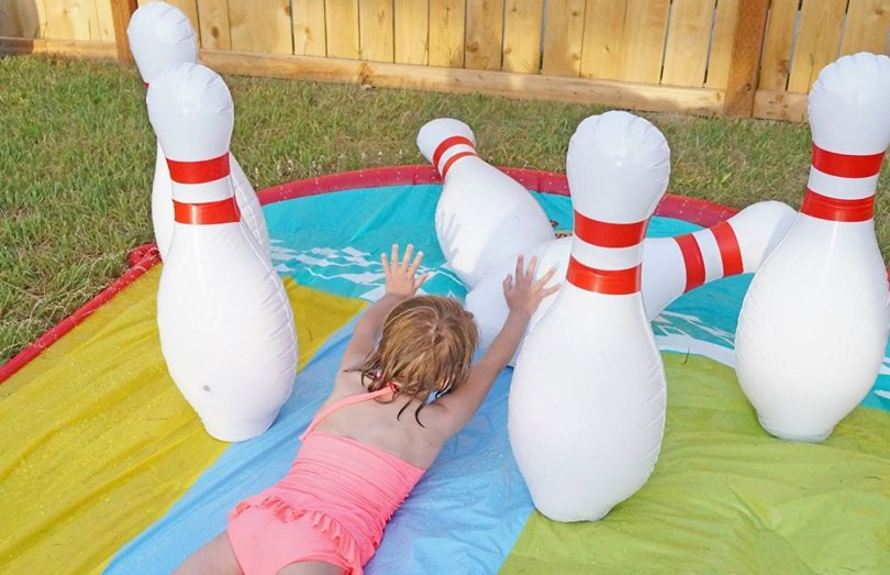 Inflatable bowling jumbo yard games