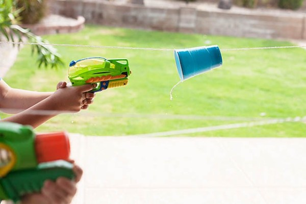 Fun outdoor game ideas - water cup races