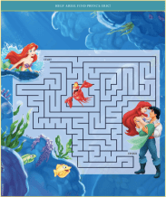 Little Mermaid activity pages maze