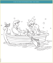 Eric and Ariel mermaid coloring pages
