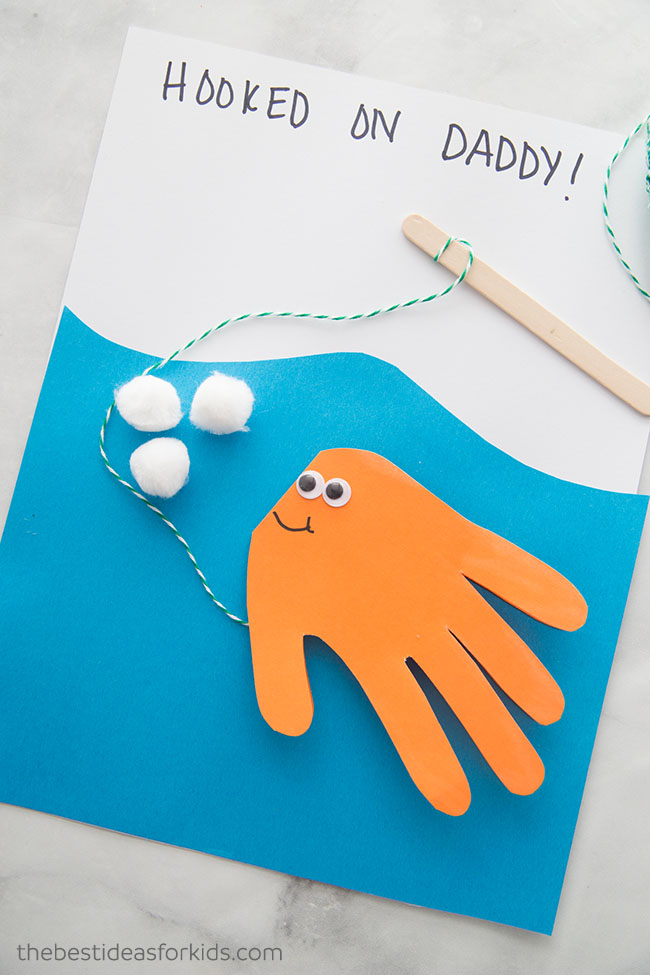 Handprint Fish Craft card - The Best Ideas for Kids