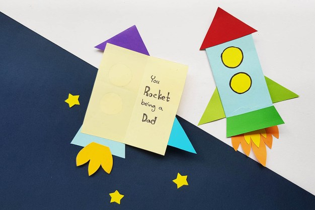 Rocket pun easy Father's Day cards - All for the Boys
