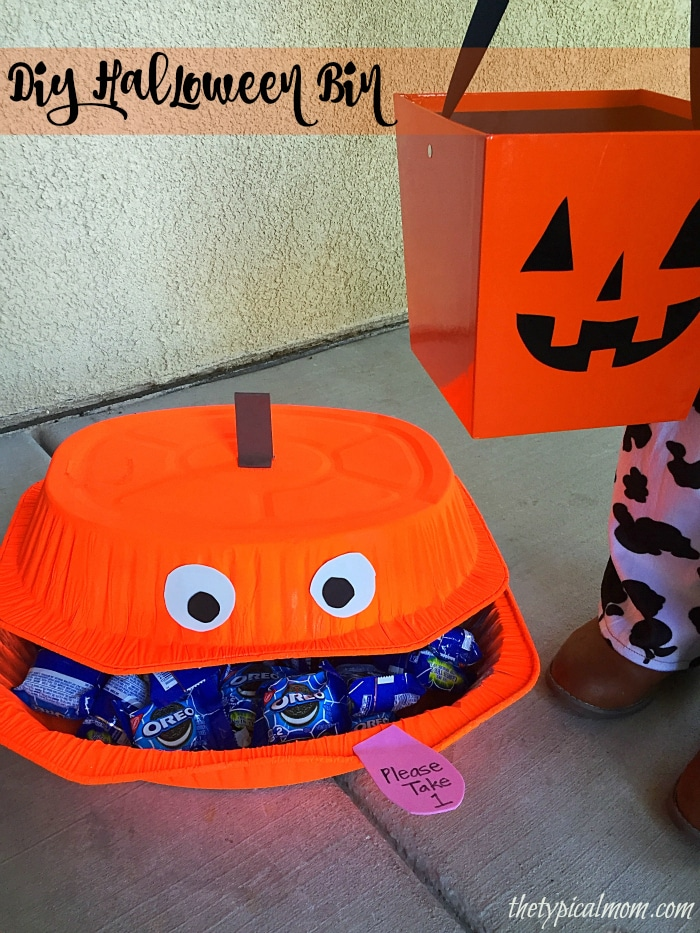 Fun dollar store DIY Halloween candy bin, Temecula Blogs