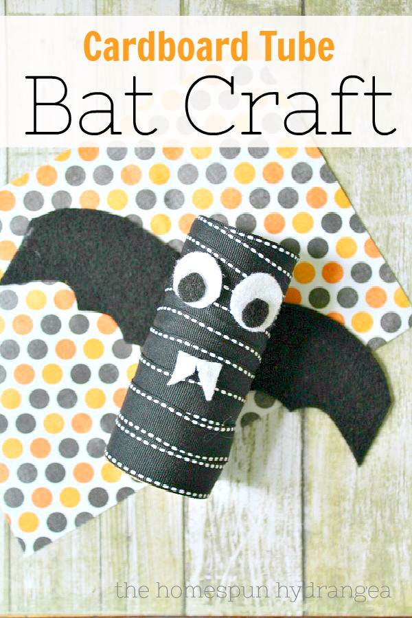 Halloween Bat Craft for Kids, The Homespun Hydrangea