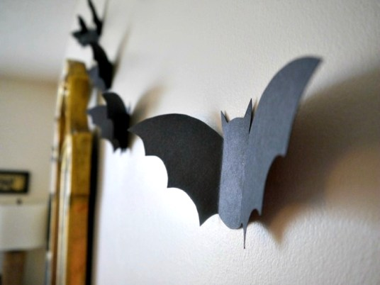 Paper flying bats, eat, move, make