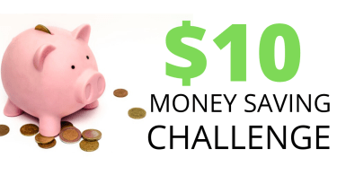The ten dollar money saving challenge to try to save over $500 this year