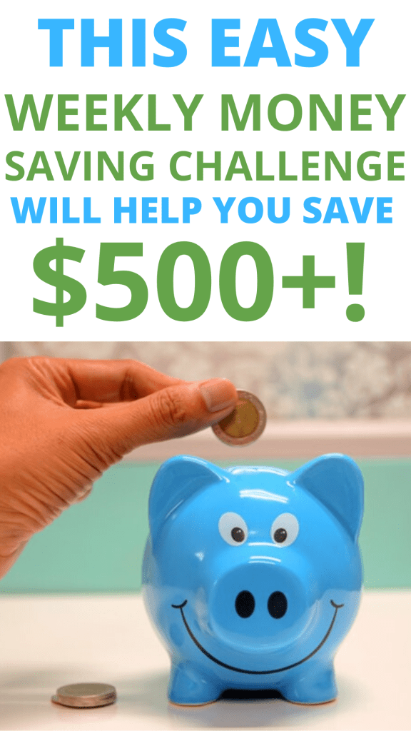 Try this weekly money saving challenge, a great way to learn about saving money for beginners