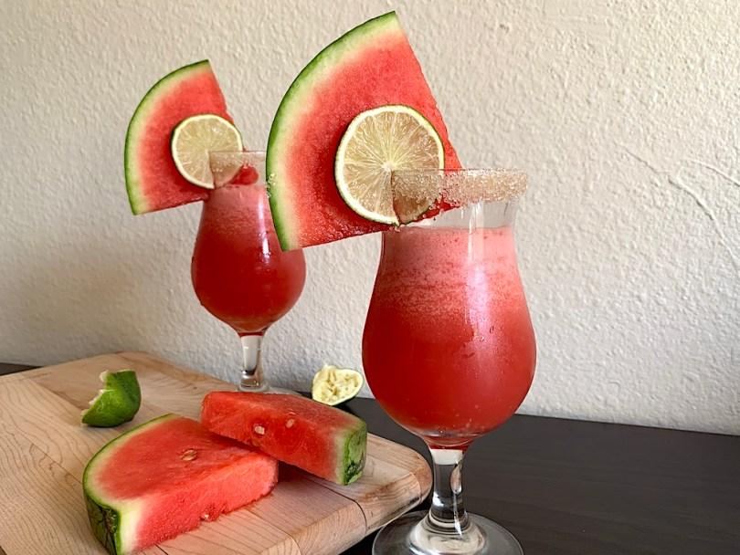 Simple watermelon margarita recipe - How to make margaritas in a blender