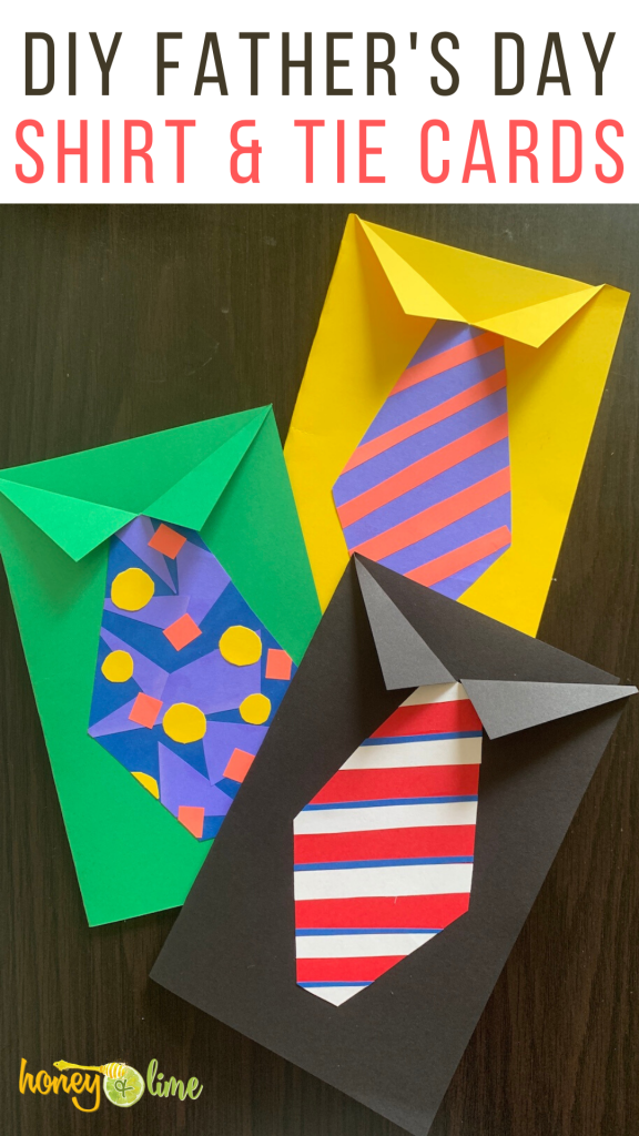 DIY Father's Day tie cards - homemade Fathers Day cards for kids