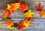 Cute fall wreath craft