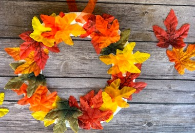 Cute fall wreath craft