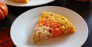 Candy Corn Crispy Rice Treats