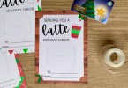 Cute Sending You A Latte gift card holders for Christmas