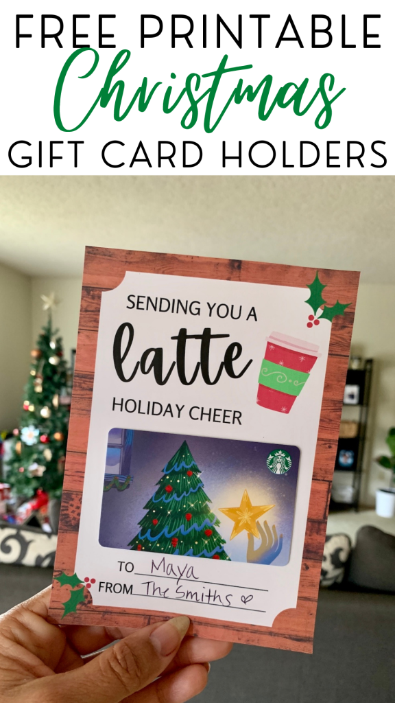 Free printable Christmas gift card holders - print these cute cards at home