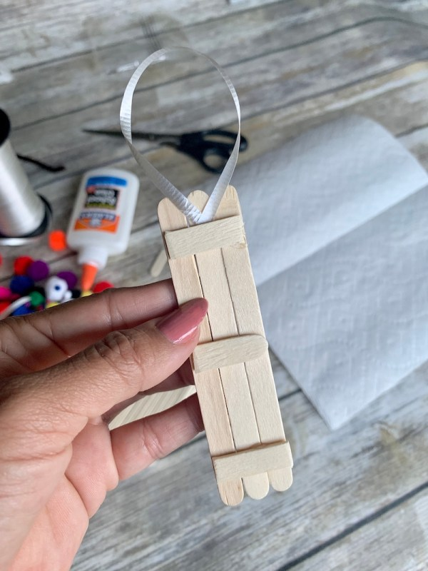 how to make a reindeer ornament with popsicle sticks