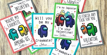 Among Us cards for Valentine's Day