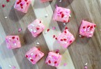 Valentine's Day fudge with sprinkles hearts