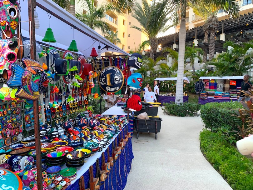 Mexican vendors on the Hyatt Ziva property in Cabo