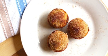 Easy banana muffins topped with cinnamon sugar