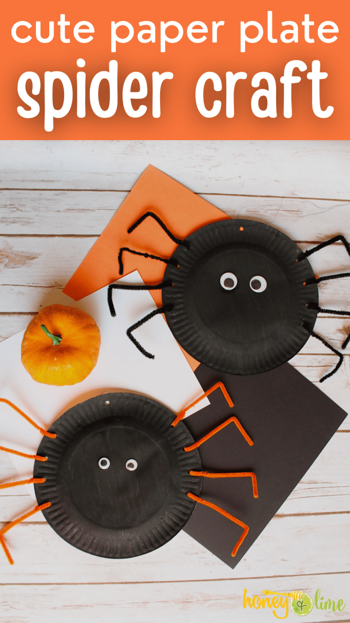 Easy Halloween Paper Plate Spider Craft for Kids