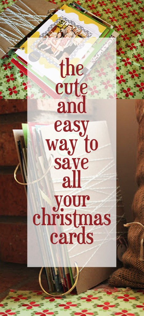 how to save your christmas cards