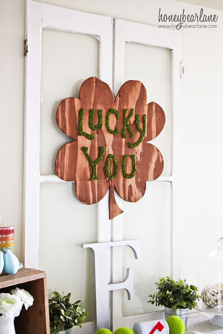 Plywood Shamrock Wreath