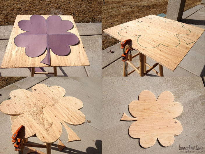 plywood shamrock