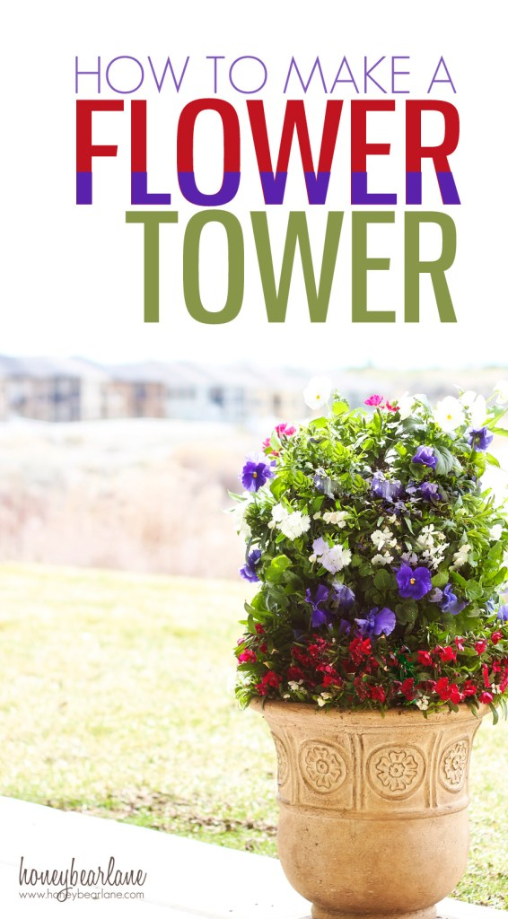 How to make a flower tower